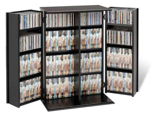 Black Locking Media Storage Cabinet-Wholesale Furniture Brokers