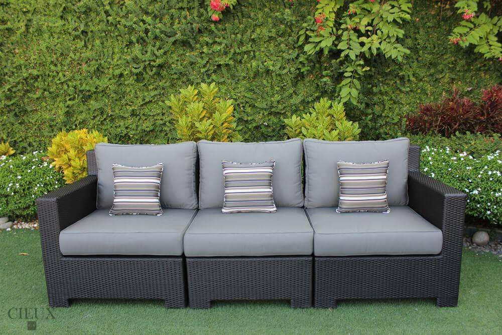 Provence Patio Wicker Sofa - Available in 3 Colours