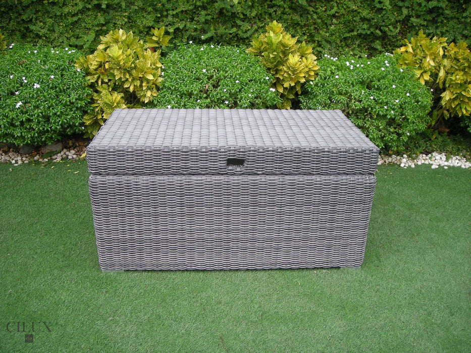 Marseille Grey Storage Trunk-Wholesale Furniture Brokers