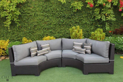 Provence Curved Small Sectional - Available in 3 Colours-Wholesale Furniture Brokers