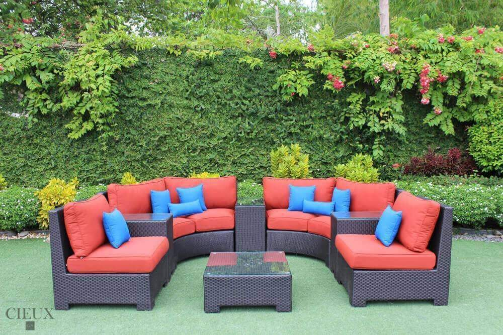 Provence Curved Large Sectional Sofa Set - Available in 3 Colours-Wholesale Furniture Brokers