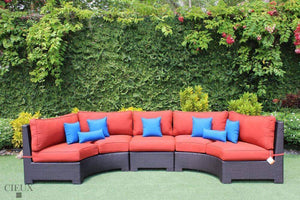Fine Provence Curved Small Sectional Sofa With Armless Chair Short Links Chair Design For Home Short Linksinfo