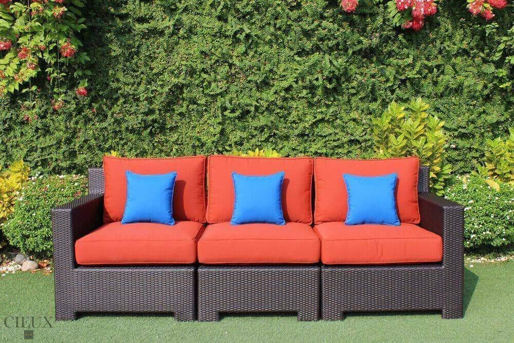 Provence Patio Wicker Sofa - Available in 3 Colours-Wholesale Furniture Brokers
