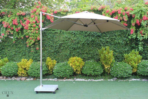 Marseille Outdoor Cantilever Umbrella with Marble Base on Castors-Wholesale Furniture Brokers