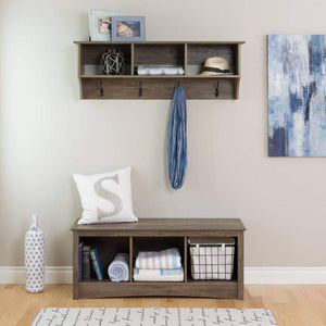 48 Inch Wide Hanging Entryway Shelf - Multiple Options Available