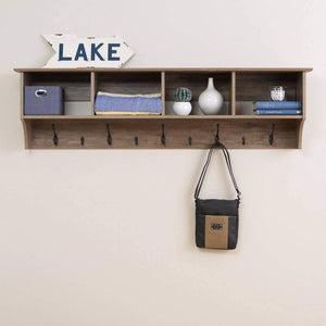 60 inch Wide Hanging Entryway Shelf - Multiple Options Available