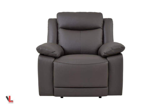 Volo Espresso Leather Recliner Chair-Wholesale Furniture Brokers