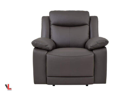 Volo Espresso Leather Recliner Chair