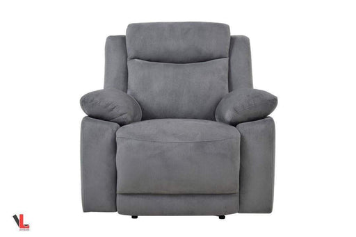 Volo Grey Fabric Recliner Chair-Wholesale Furniture Brokers