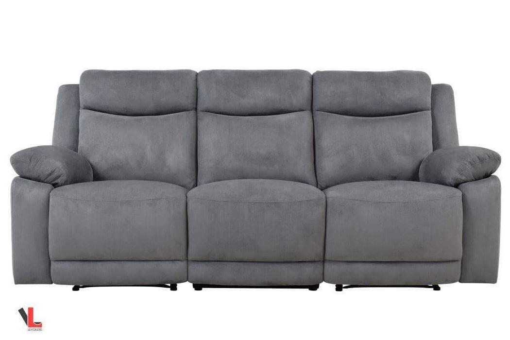 Volo Grey Fabric Reclining Sofa-Wholesale Furniture Brokers