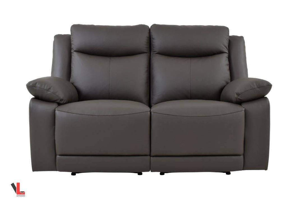 Volo Espresso Leather Reclining Loveseat