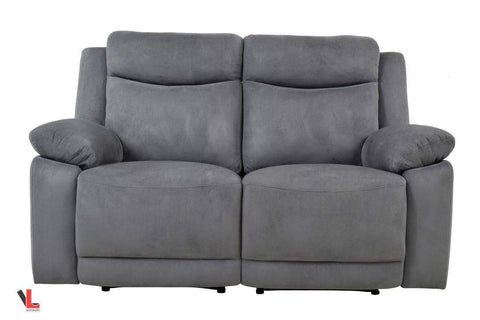 Volo Grey Fabric Reclining Loveseat