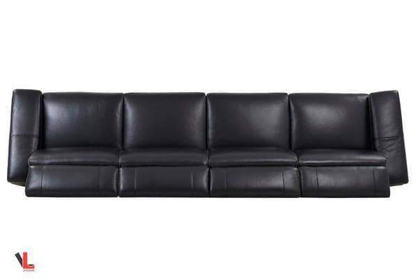 Aura Black Leather Power Reclining Extra Large Sofa-Wholesale Furniture Brokers