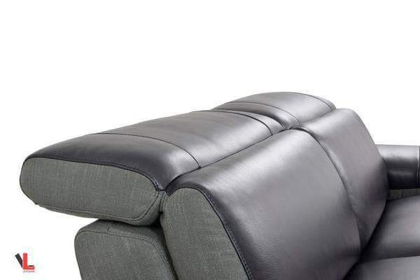 Aura Top Grain Black Leather Small Sectional with Right Chaise-Wholesale Furniture Brokers