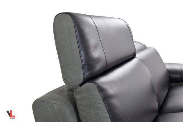 Aura Top Grain Black Leather Power Reclining Large Sectional with Right Facing Chaise-Wholesale Furniture Brokers