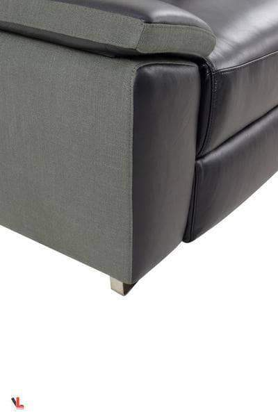 Aura Black Power Reclining Medium Sectional with Right Facing Chaise-Wholesale Furniture Brokers