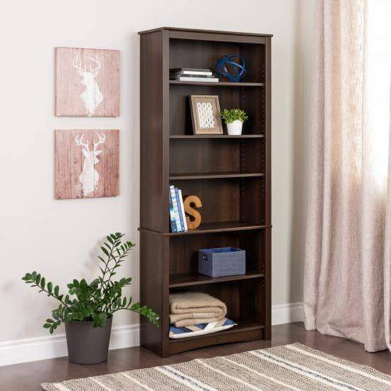 6 Shelf Bookcase - Multiple Options Available