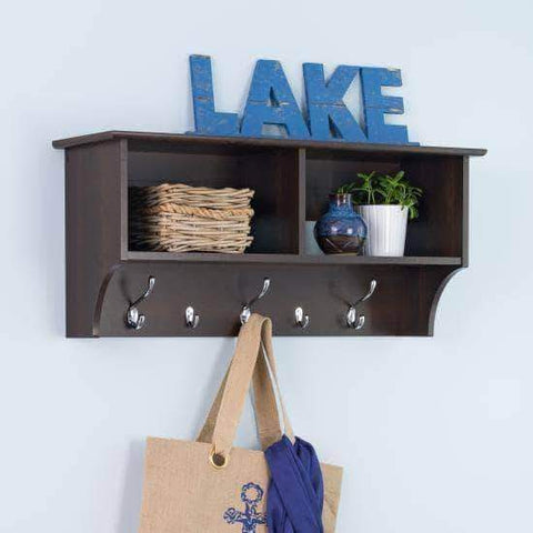 36 Inch Wide Hanging Entryway Shelf - Multiple Options Available