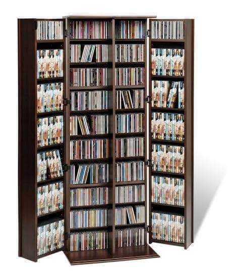 Grande Locking Media Storage Cabinet with Shaker Doors - Multiple Options Available-Wholesale Furniture Brokers