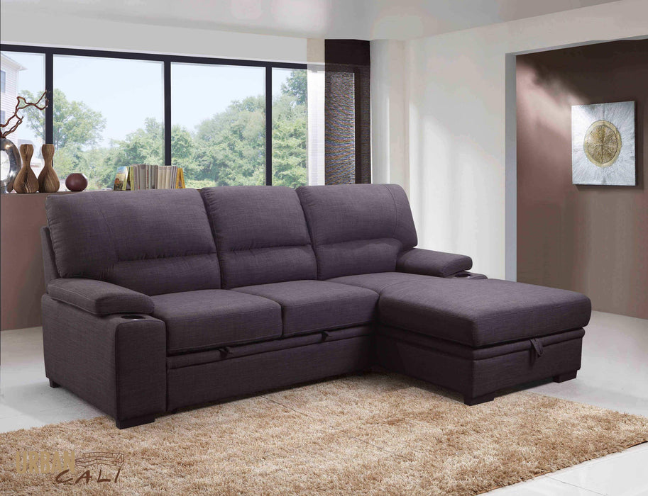Anaheim Condo Sleeper Sectional with Storage Chaise-Wholesale Furniture Brokers