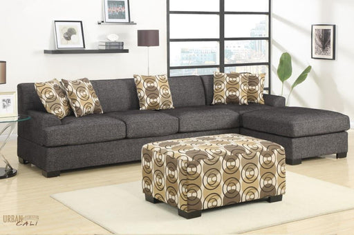 Hayward Large Sectional Sofa with Reversible Chaise in Linen Fabric-Wholesale Furniture Brokers