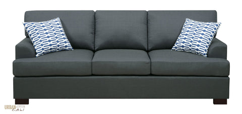 Hayward Sofa in Slate Black Polyfiber Linen Fabric