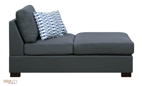 Hayward Chaise in Slate Black Polyfiber Linen Fabric