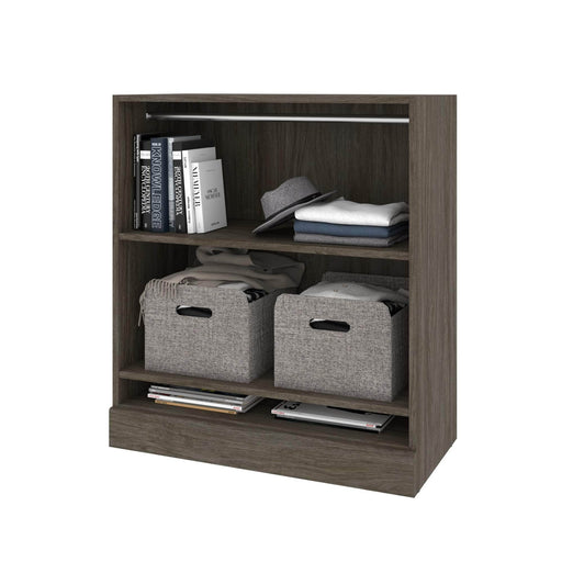Modubox Versatile Low storage unit with rod - Walnut Grey