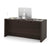 Embassy Traditional Executive Desk with 2 Pedestals - Dark Chocolate