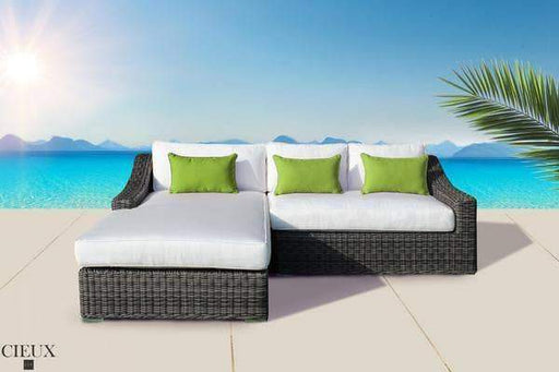 Marseille Spectrum Mushroom Sectional with Chaise-Wholesale Furniture Brokers