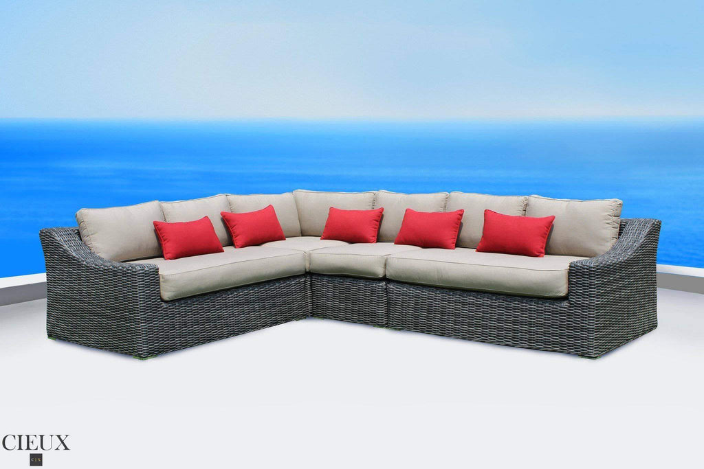 Marseille Spectrum Mushroom L-Shaped Sectional