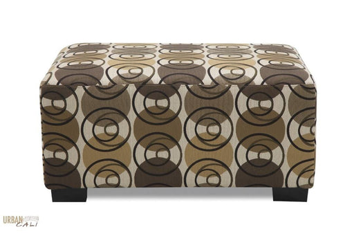 Hayward Swirl Design Ottoman-Wholesale Furniture Brokers