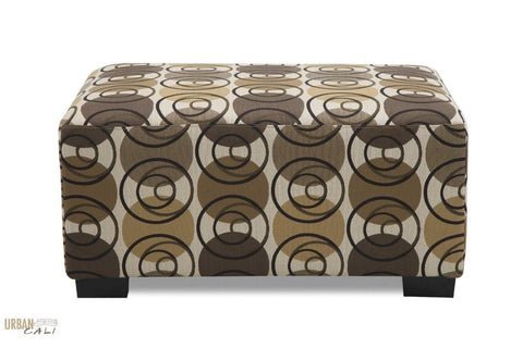 Swirl Design Ottoman by Urban Cali