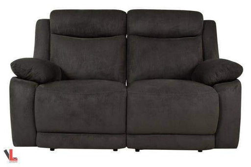 Volo Charcoal Fabric Reclining Loveseat-Wholesale Furniture Brokers