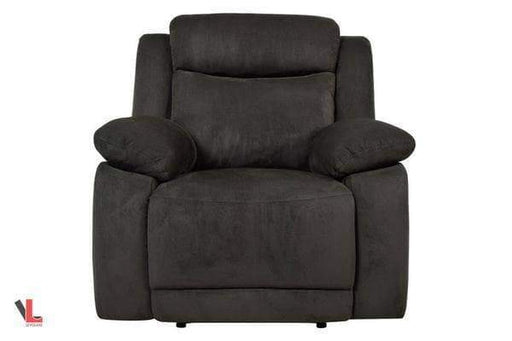 Volo Charcoal Fabric Recliner Chair-Wholesale Furniture Brokers