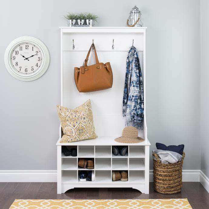 Hall Tree with Shoe Storage - Multiple Options Available-Wholesale Furniture Brokers
