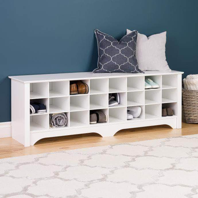 24 pair Shoe Storage Cubby Bench - Multiple Options Available-Wholesale Furniture Brokers