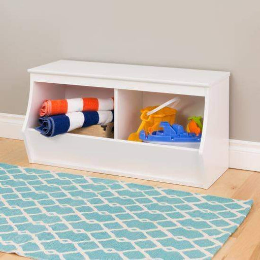 Monterey Stackable 2-Bin Storage Cubby - Multiple Options Available-Wholesale Furniture Brokers