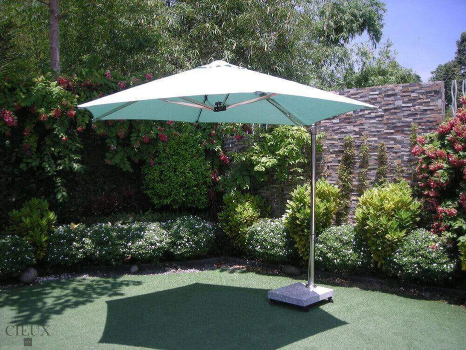 Provence Patio Cantilever Umbrella with Marble Base on Castors-Wholesale Furniture Brokers