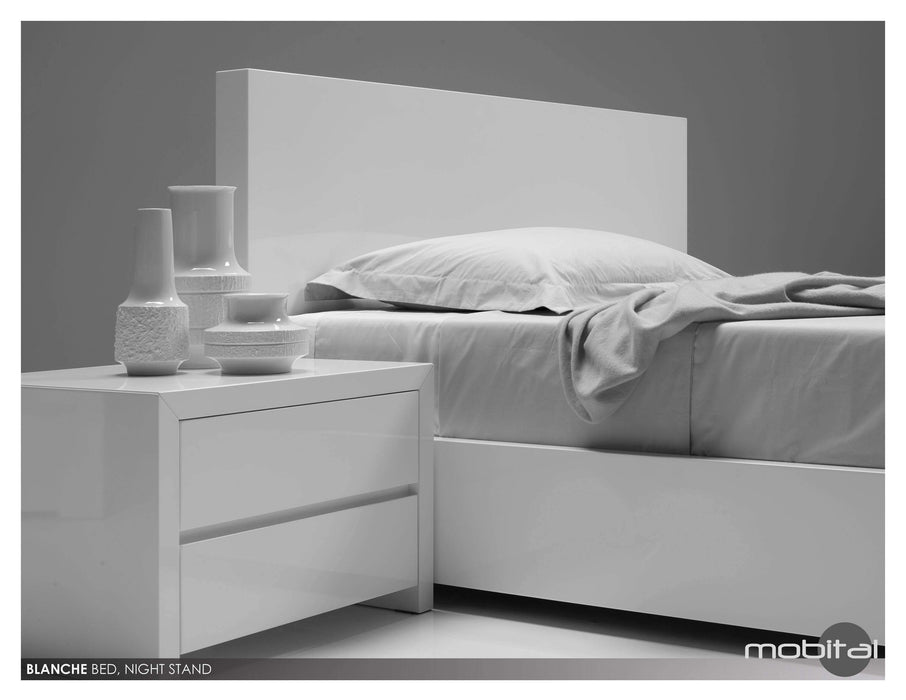 Mobital Bed Queen / White Blanche Platform Bed - Available in 2 Colors