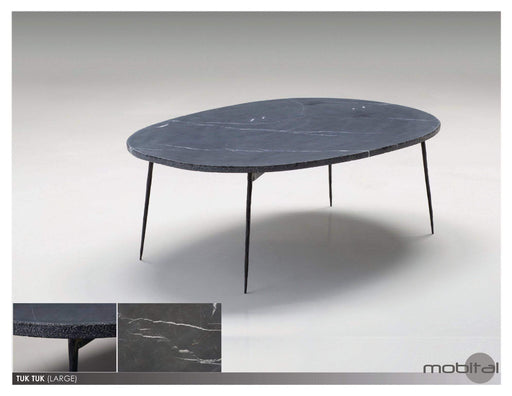 Mobital Coffee Table Large / Black Tuk Tuk Coffee Table Spanish Nero Marble with Black Powder Coated Steel - Available in 2 Colors