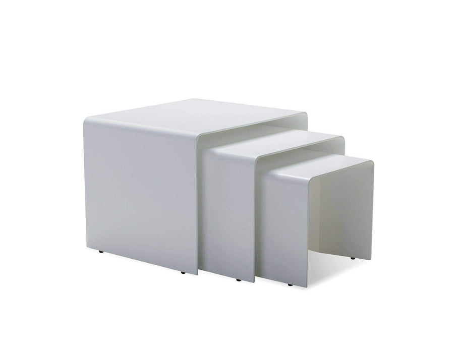 Mobital Coffee Table Playa 3 Piece Nesting Coffee Table White Solid Surface