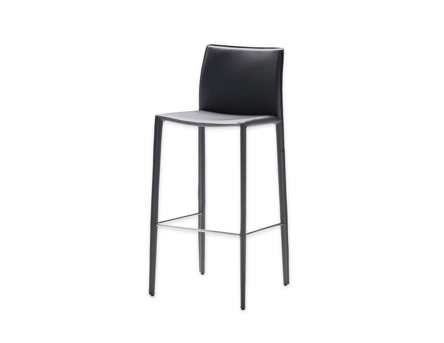 Mobital Counter Stool Black Zak Counter Stool Full Leather Wrap Set of 2 - Available in 3 Colors