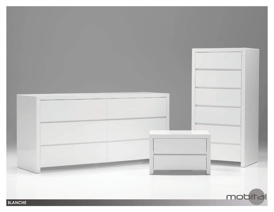 Mobital Dresser Stone Blanche Double Dresser High Gloss - Available in 2 Colors
