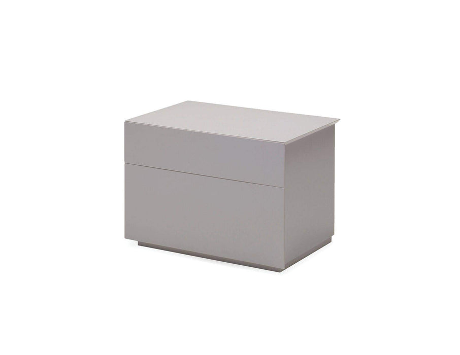 Mobital Nightstand Stone Vex 2 Drawer Night Table Matte Stone - Available in 2 Colors