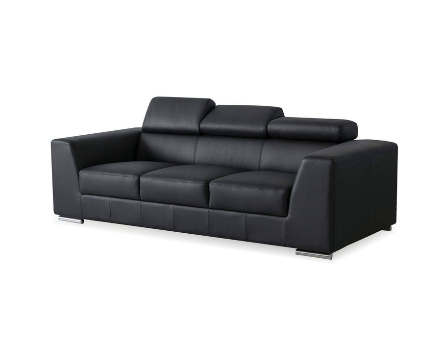 Mobital Sofa Black Icon Sofa Premium Leather with Side Split - Available in Black and White