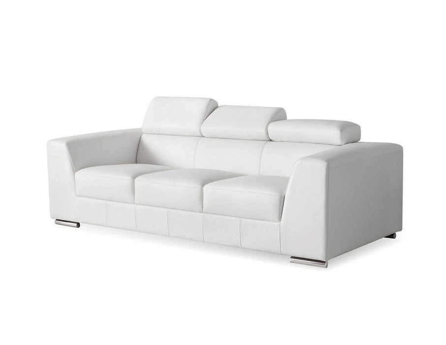 Mobital Sofa White Icon Sofa Premium Leather with Side Split - Available in Black and White