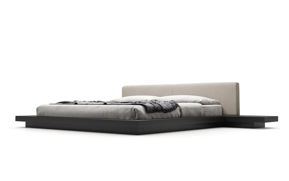 Modloft Bed Ecru Fabric / Cal King Worth Eco-Leather Platform Bed - Available in 5 Colors and 3 Sizes