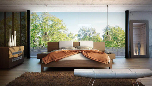 Modloft Bed Monroe Eco Pelle Leather Low Profile Platform Bed - Available in 3 Colors and 2 Sizes