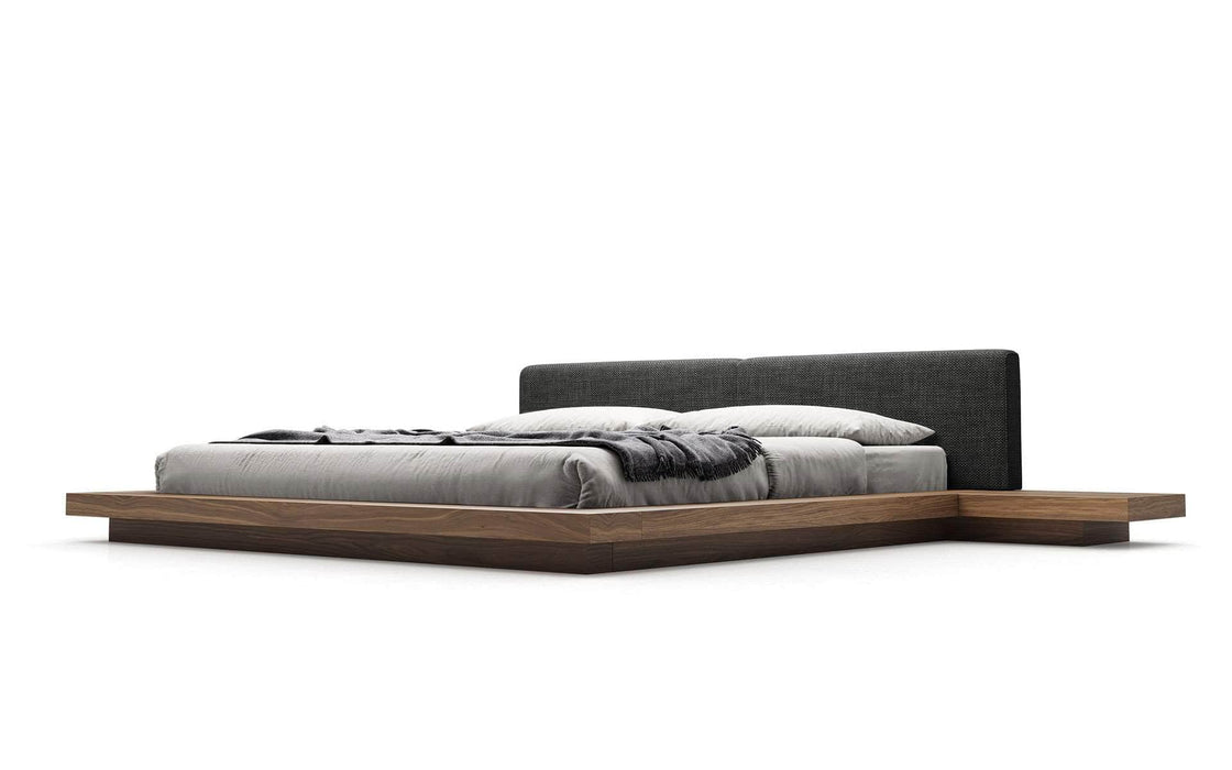 Modloft Bed Soft Carbon Fabric / Cal King Worth Eco-Leather Platform Bed - Available in 5 Colors and 3 Sizes